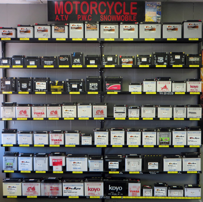 motorcycle battery display